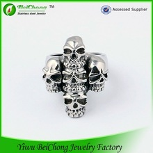 Hot new products for 2015 Mayan stainless steel skull ring birthday gifts for men