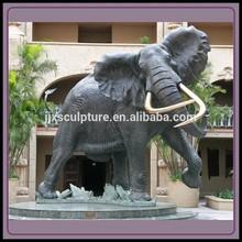 Antique Bronze Elephant Sculpture