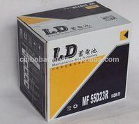 Cheap best selling car battery distributor 55D23LMF 12v60AH