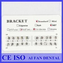 [ AiFan Dental ] Hot Sale 2015 dental products Bondable Base Mesh Edgewise 0.022 Slot Hooks3 dental brackets