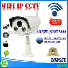 Bullet WIFI IP CCTV ,Megapixel CMOS WIFI IP CCTV,taxi security camera system