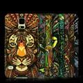Carcasa luminosa sobre oscuro para Galaxy S5, estampado táctil incrustado, carcasa para teléfono celular con moderno estampado de leopardo, nuevos productos exitosos para 2015