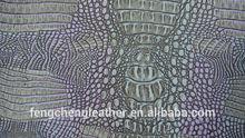 2014 hotsale tow-tone crocodile emboss pu leather fc15058-8