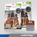 Auto- adhesivo transparente vinilo auto-adhesivo de la película de la impresión digital materiales/pet película de la impresión