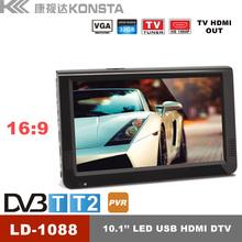 2015 NEW 10 inch flat screen tv with DVB T2 car flat tv screen flat-screen-tv-wholesale LD-1088T2
