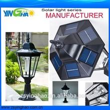black solar bollard light landscape lamp/Northern Europe light model