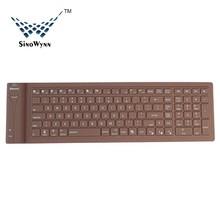 Silicone Dustproof Waterproof Foldable Bluetooth Keyboard