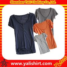 Custom women hemp t shirts wholesale hemp clothing manufacturer in china