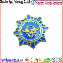 professional custom metal zinc alloy badge,round pin badge making factory