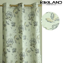 Classic country style printed flower decorative window curtain