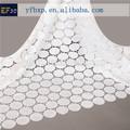 2015 fantasia de noiva branco bordado do laço de tule tecido pesado, com lantejoulas frisado laço de tecido