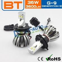 3600lm/2400lm Auto LED Headlight,Generation9 DC 12v-24v High Power Led Car Headlight,360-Degree Headlight For Fiat Uno