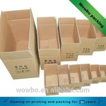 Various size corrugated shipping carton box wholesale