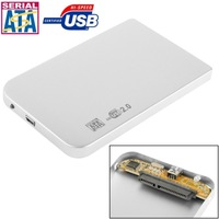 China supplier 2.5 inch SATA HDD External Case, Size: 126mm x 75mm x 13mm (Silver)