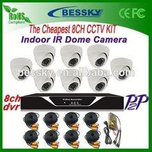 CCTV System- 8pcs Dome IR Cameras + H.264 8ch DVR -CCTV KIT sony home theater system