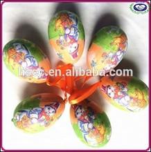 2015 creative colorful plastic easter eggs toys wholesale easter egg gift for Children