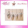 Vintage de vidro natal pinha, soprado natal pinha enfeites, decoração de natal vintage de vidro de mercúrio pinha