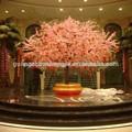 Sjh011832 artificial de color rosa flor de la boda del árbol del árbol de melocotón árbol para la decoración de interior