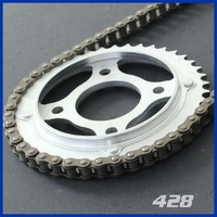 Brand new shineray 500cc parts motorcycle chain and sprocket with CE certificate