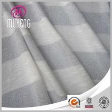New Designer Metallic Thread Striped Twist Knitting Hacci Fabric With Rayon Slub Wholesale