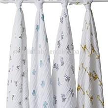 muslin bamboo gauze baby blanket organic cotton baby muslin square / towel