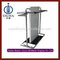 rack de lujo para tienda de ropa/percheros con pantalla metálica / bastidores de acero inoxidable modernos para ropa