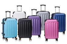 Strong ABS plastic material trolly travel luggage with lower price