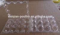 12 eggs quail packing tray, plastic quail pack tray