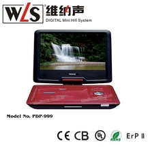 WLS New product for 2015 PDP-999 Rechargeable DVD Player with USB SD Phone Funtions