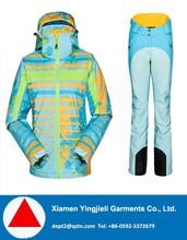2015 Hot Style Color Clash Waterproof Ski Suits From Xiamen Yingjieli Garments Co., Ltd