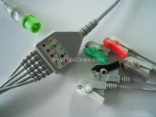 Fukuda Denshi 0012-00-1192 one piece 5 lead ECG Cable,AHA,Clip