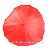"""23""""*16k heart shaped straight umbrella"""