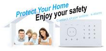 Manufacturer of GSM Burglar Alarm System, smart phone application alarm, Touch Keypad, RFID