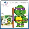 Mini Qute BALODY de dibujos animados estadounidense Ninja tortuga de plástico nano cubo Series conectan bloques de construcción para niños juguetes educativos NO.68022