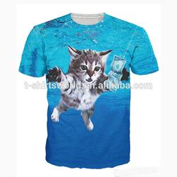 AZO Free and Low CADMIUM fashion dri fit 3d t-shirt printing