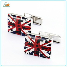 Low price best selling square cufflinks \ the surface is the M word Cufflinks \ make custom cufflinks
