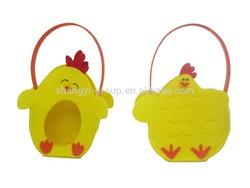(19-12/13) 2015 Cute Kid Easter bag/Easter Tote/ Felt Chick Basket