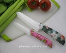 JT-FHA095, colorful flower priting hanlde Ceramic Knives Set 3 6 inch