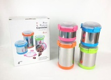 stainless steel food storage container with lid