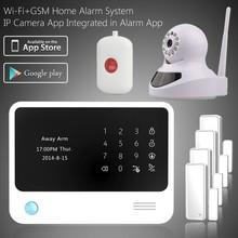 Smart wireless burglar alarm system Android+IOS APP control, RFID home alarm system & alarmas de hogar