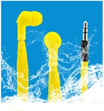 Factory color shoelace earbuds waterproof shoelace ear phone mp3 shoelace earphone