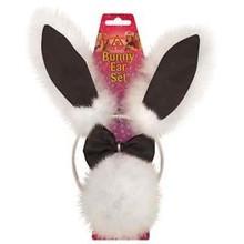 Sexy Ladies Black White Bunny Rabbit Ears Fancy Dress Headband Tail & Bow Tie H250