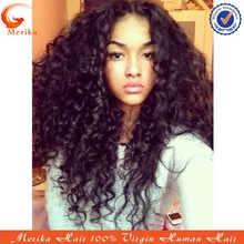 wholesale AAAAA 150% density full lace wig,natural color bohemian curl wig