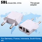 Europe type adapter plugs,High quality European conversion socket,The gauge adapter