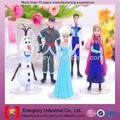 el último estilo caliente venta personalizada de dibujos animados de carácter congelado juguetes de plástico figura película congelados muñecas juguetes al por mayor