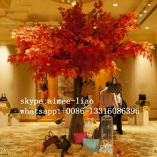 q011902 yapay kırmızı akçaağaç ağaç duvar dekorasyonu soyağacı büyük bir yapay dekoratif ağaç