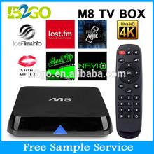 2GB ram 8GB flash amlogic S802 quad core smart tv tuner box