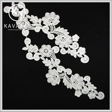 Flower design 100% cotton lace collar necklace collar for women