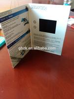 5'' customized LCD wedding card design/wedding invitation card/video invitation card model