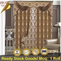 China supplier new curtain designs jacquard curtain fabric
